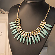 Women's Euramerican Fashion Casual Gemmy Alloy Necklace