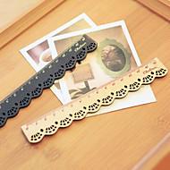 projeto do laço régua de madeira (bege)