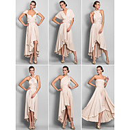 Homecoming Convertible Dress Asymmetrical Jersey Sheath/Column Dress (633752)