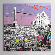 Stretched Canvas Art Pop Art Architecture Tour Eiffel Ready to Hang