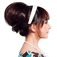 noiva mulher da forma coque casamento Coque calor peruca sintética fibra resistente da extensão do cabelo partido cosplay barato