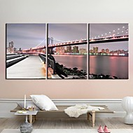 Reprodukce na plátně umění Krajina Manhattan Bridgel Sada 3