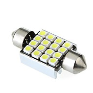 36mm 16 1210 SMD LED Canbus Witte Auto interieur koepel Festoen Light lamp