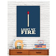 Stretched Canvas Art Words Light My Fire