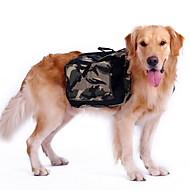 Σκυλιά Σακίδιο Ρούχα για σκύλους Αθλητικά καμουφλάζ Πράσινο