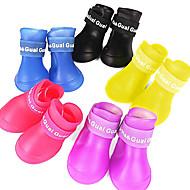 Cães Sapatos e Botas Prova-de-Água Verão Primavera/Outono Cor Única Vermelho Amarelo Azul Púrpura Preto Borracha