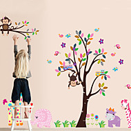 DIY Wall Stickers Monkey Animal in the Zoo Self-adhesive Plastic Washable Wall Decals