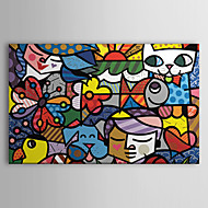 Stretched Canvas Art Pop Arts Cartoon Britto Garden Ready to Hang