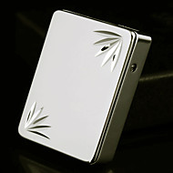 Personalized Leaves Pattern Gold Engraved USB Electronic Lighter