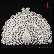 Luxuriant Rhinestone Peacock Clutch Bags for Women
