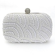 Vizon Women's New Fashion Pearl Beaded Clutch Bag Popular Design Shining Pearl Lady Evening Bag