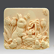 Festival Easter Rabbit Soap Mould
