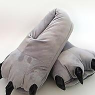 Adults & Kids Cute Gray Cotton Paw Pattern Slippers