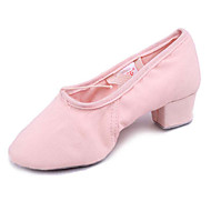 Non Customizable Women's Dance Shoes Ballroom Canvas Chunky Heel Black/Pink