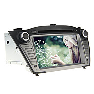 7 polegadas 2 DIN no painel do carro DVD Player para Hyundai IX35 2009-2013 com GPS, BT, IPOD, RDS, TV