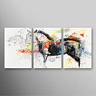 IARTS®Hand Painted Oil Painting Animal Running Horse with Stretched Frame Set of 3 Ready to Hang