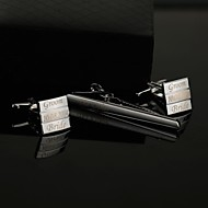 Gift Groomsman Personalized  Men's Gift Tie Clip and Cufflinks Sets with Gift Box