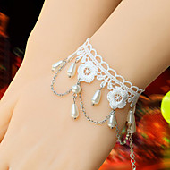 Princess Style White Lace Sweet Lolita Bracelet with Beads