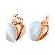 Stud Earrings Women's Gold Earring Opal