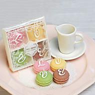 Macarons Candle - Set om 4 stycken