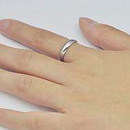 Unisex Simple Glossy Titanium Steel Ring