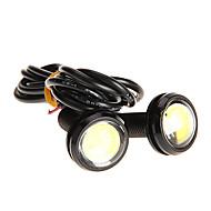 Pares 3W de alta potencia LED Ultra-delgada Led Eagle Eye luz de la cola de copia de seguridad de la lámpara posterior Color Blanco 2786