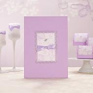 mit Schleife romantisch lila Gästebuch (5 Seiten) Zeichen in Buch