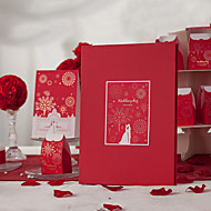 Asian Theme Red Guest Book (5 Pages) Sign In Book
