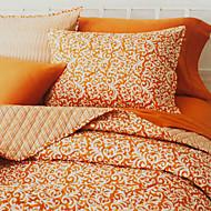 Huani® Quilt Set, 3-Piece 100% Cotton Country Style Apricot Arabesque