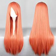 Universalität Cosplay synthetische lange Perücke orange