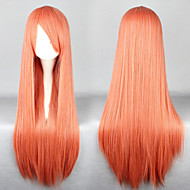 Universalidad cosplay larga sintética peluca naranja