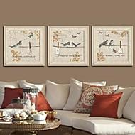 Animal Framed Canvas / Framed Set Wall Art,PVC Beige No Mat With Frame Wall Art