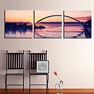 Stretched Canvas Art Landscape Dusk Scenery Set of 3