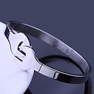 Personlig gave Smykker Wrench Design Rustfri stål med gravering Cuff Armbånd 1cm Bredde