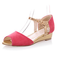 Leatherette Women's Wedge Heel Wedges Sandals Shoes(More Colors)
