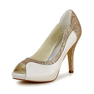 Women's Wedding Shoes Heels/Peep Toe/Platform Heels Wedding/Party & Evening Black/Blue/Purple/Red/White/Silver/Gold/Champagne/Beige