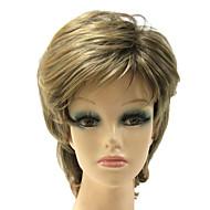 Korkiton Synteettinen sekoitettu väri kiharat Synteettinen Hair Wig