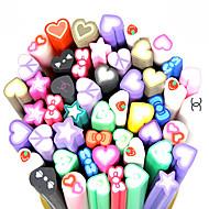 20PCS Polymer Love-Shape Canes Rods Nail Art Decoration