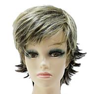 캡리스 합성 혼합 색깔 짧은 꼬부라 진 합성 머리 가발