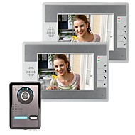 7 inch video deurtelefoon deurbel Intercom Kit 1-camera 2-scherm Night Vision