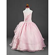Ball Gown Floor-length Flower Girl Dress - Satin/Organza Sleeveless