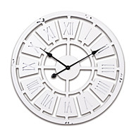 """24 """"H Branco estilo moderno de madeira relógio de parede"""