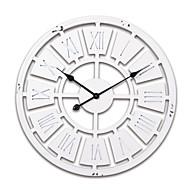 "24 ""H White Modern Style Ξύλο Ρολόι Τοίχου"
