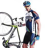 Mysenlan Jerseu Cycling cu Pantaloni Scurți Bărbați Mânecă scurtă BicicletăJerseu Pantaloni Scurți Padded Pantaloni scurți Set de