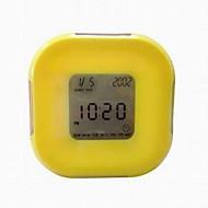 All Sides Rotating Including Calendar Temperature Rountdown Alarm Clocks (Color Random)