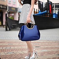 Women's Occident  Solid Color Patent Leather Totes