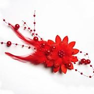 Fashion Bride Feather Headdress Flower Hairpin