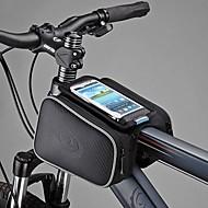Bolsa para Quadro de Bicicleta / Bolsa Celular / Bolsa de Ciclismo Prova-de-Pó / Touch Screen Ciclismo Pele PU / Poliéster / PVC Preto