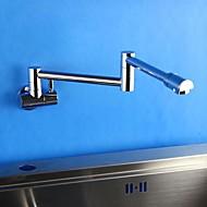 HPB Zeitgenössische Flexible Chrom-Finish Messing Ein Loch Einhand-Küchenarmatur