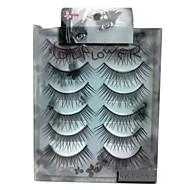 6 pairscoolflower false eyelashes 001#